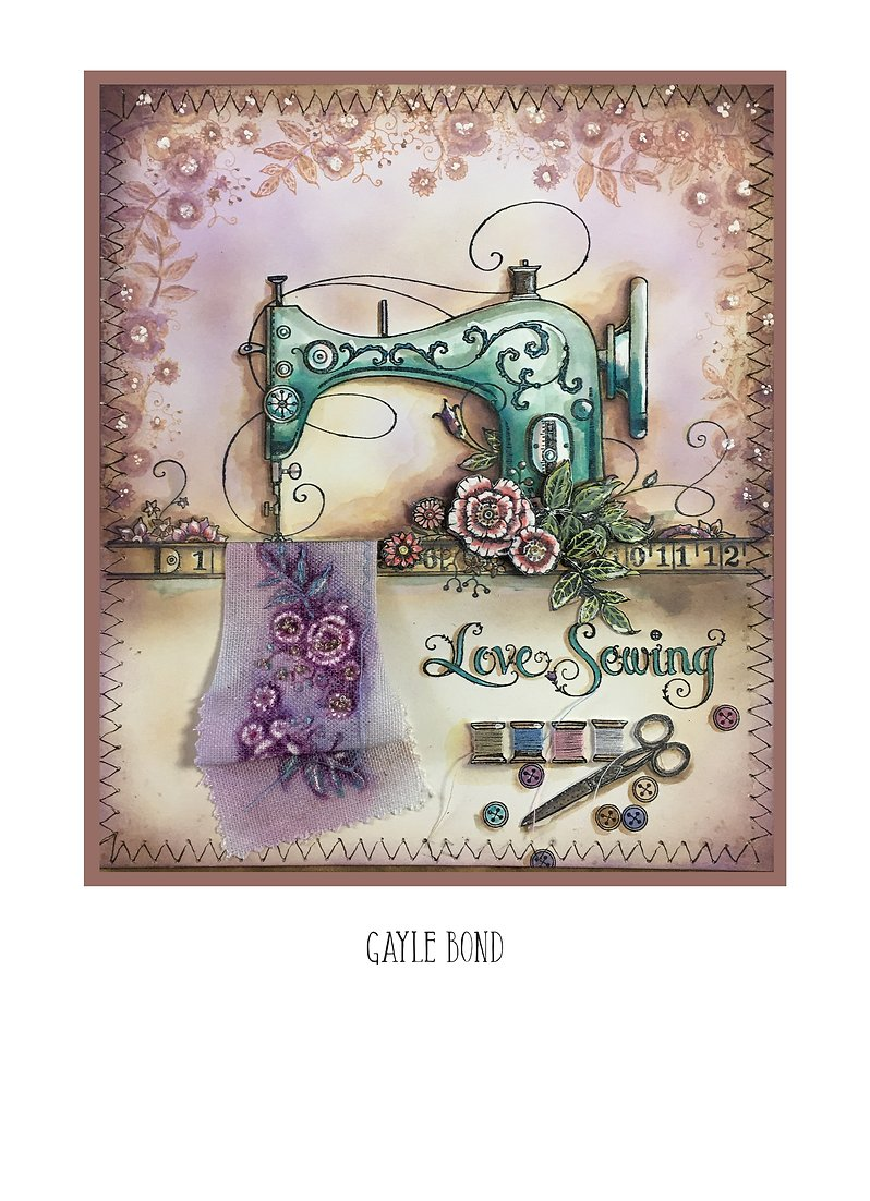 Pink Ink Designs - Clear Photopolymer Stamps - A Stitch In Time