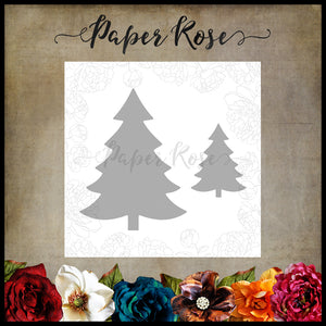 Paper Rose - Christmas Trees - Die