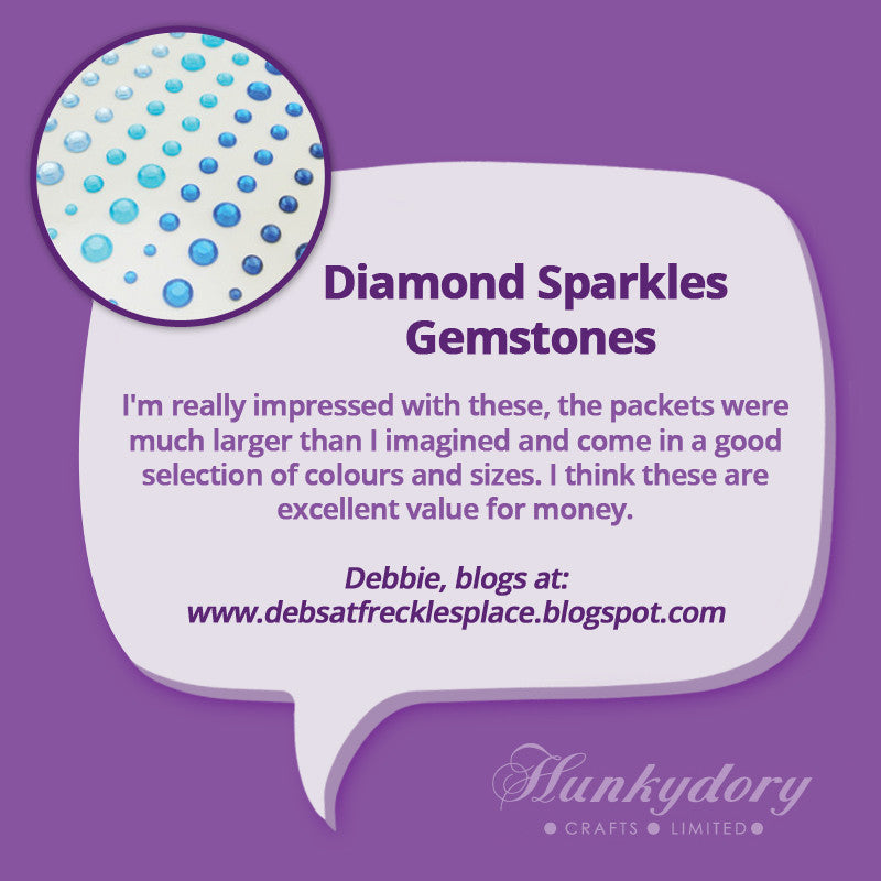 Hunkydory - Diamond Sparkles Gemstones - Gold & Silver