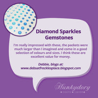 Hunkydory - Diamond Sparkles Gemstones - Pretty Pinks