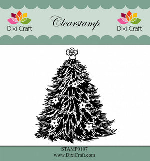 Dixi Craft - Clear Stamp - Christmas Tree with Stars
