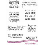 Katzelkraft - Dreamer - Sentiments - Unmounted Red Rubber Stamp Set