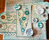 PaperArtsy - Darcy 02 - Rubber Cling Mounted Stamp Set
