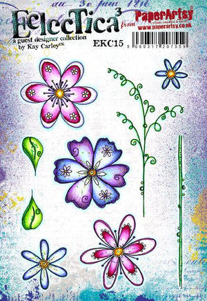 PaperArtsy - Kay Carley 15 - Rubber Cling Mounted Stamp Set