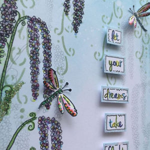 PaperArtsy - Kay Carley 18 - Rubber Cling Mounted Stamp Set