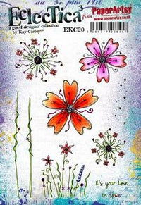 PaperArtsy - Kay Carley 20 - Rubber Cling Mounted Stamp Set