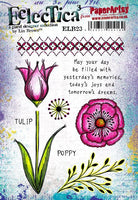 PaperArtsy - Lin Brown 23 Rubber Cling Mounted Stamp Set
