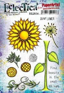 PaperArtsy - Lin Brown 24 - Rubber Cling Mounted Stamp Set