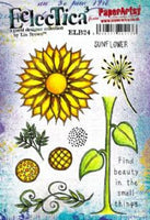 PaperArtsy - Lin Brown 24 Rubber Cling Mounted Stamp Set