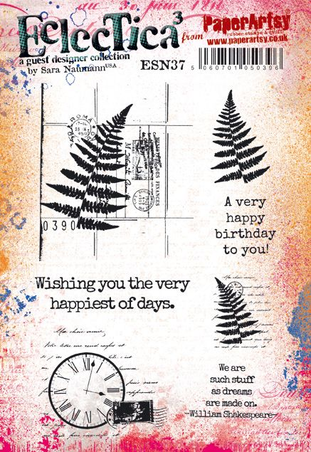 PaperArtsy - Sara Naumann 37 - Rubber Cling Mounted Stamp Set