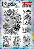 PaperArtsy - Scrapcosy 01 - Rubber Cling Mounted Stamp Set
