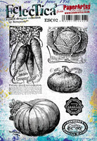 PaperArtsy - Scrapcosy 02 - Rubber Cling Mounted Stamp Set
