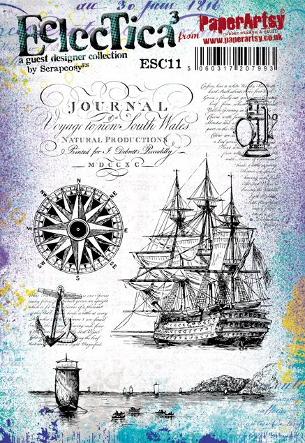 ShopForAllYou Stamping /& Embossing Rubber Cling Stamp Ocean Steamer Steam Boat Nautical Ship
