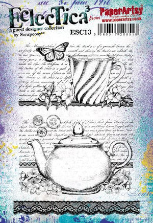 PaperArtsy - Scrapcosy 13 - Rubber Cling Mounted Stamp Set