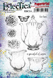PaperArtsy - Scrapcosy 14 - Rubber Cling Mounted Stamp Set