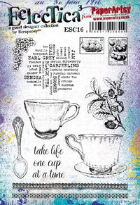 PaperArtsy - Scrapcosy 16 - Rubber Cling Mounted Stamp Set