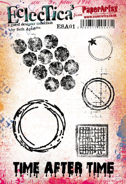 PaperArtsy - Seth Apter 01 - Rubber Cling Mounted Stamp Set