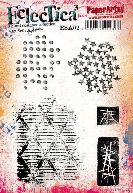 PaperArtsy - Seth Apter 02 - Rubber Cling Mounted Stamp Set