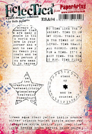 PaperArtsy - Seth Apter 04 - Rubber Cling Mounted Stamp Set
