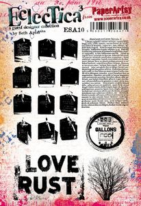 PaperArtsy - Seth Apter 10 - Rubber Cling Mounted Stamp Set