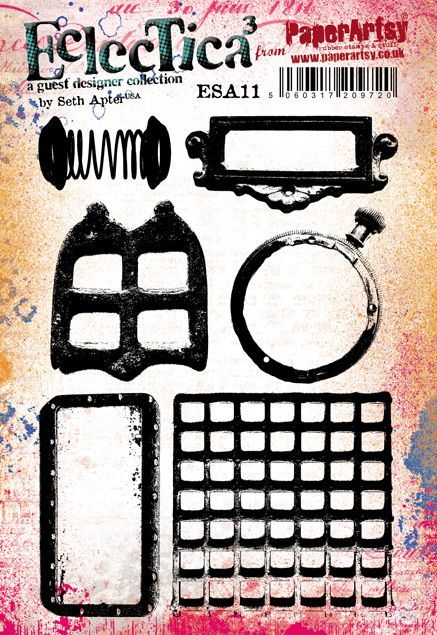 PaperArtsy - Seth Apter 11 - Rubber Cling Mounted Stamp Set