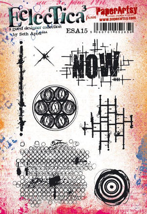PaperArtsy - Seth Apter 15 - Rubber Cling Mounted Stamp Set