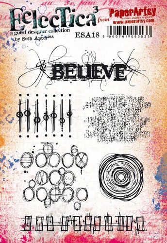 PaperArtsy - Seth Apter 18 - Rubber Cling Mounted Stamp Set