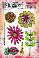 PaperArtsy - Tracy Scott 06 Rubber Cling Mounted Stamp Set