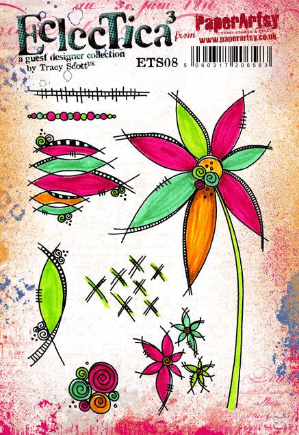 Paperartsy Tracy Scott 08 Rubber Cling Mounted Stamp