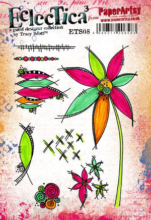 PaperArtsy - Tracy Scott 08 - Rubber Cling Mounted Stamp Set