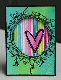 PaperArtsy - Tracy Scott 14 - Rubber Cling Mounted Stamp Set