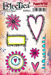 PaperArtsy - Tracy Scott 15 - Rubber Cling Mounted Stamp Set