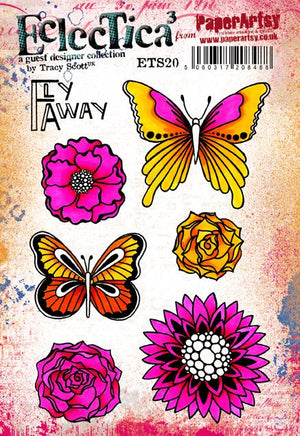 PaperArtsy - Tracy Scott 20 - Rubber Cling Mounted Stamp Set