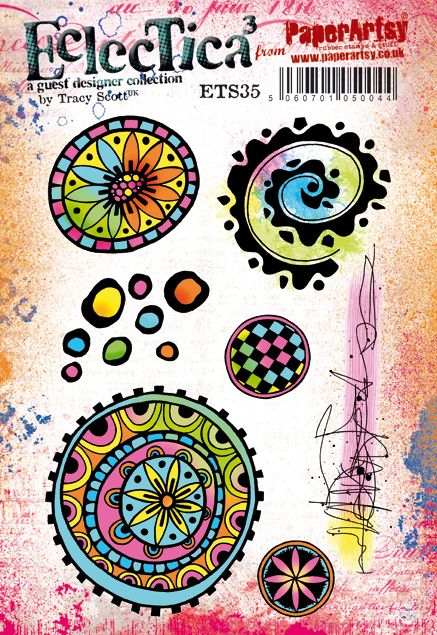 PaperArtsy - Tracy Scott 35 - Rubber Cling Mounted Stamp Set