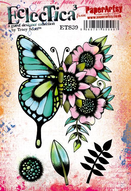 PaperArtsy - Tracy Scott 39 - Rubber Cling Mounted Stamp Set