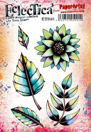 PaperArtsy - Tracy Scott 40 - Rubber Cling Mounted Stamp Set