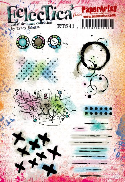 PaperArtsy - Tracy Scott 41 - Rubber Cling Mounted Stamp Set