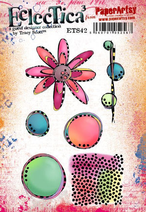 PaperArtsy - Tracy Scott 42 - Rubber Cling Mounted Stamp Set