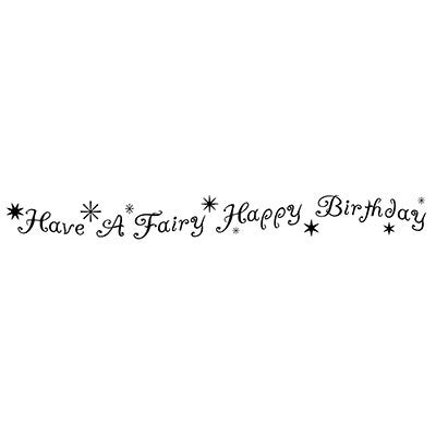 Lavinia - Fairy Happy Birthday - Clear Polymer Stamp