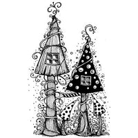 Lavinia - Fairy Houses - Clear Polymer Stamp
