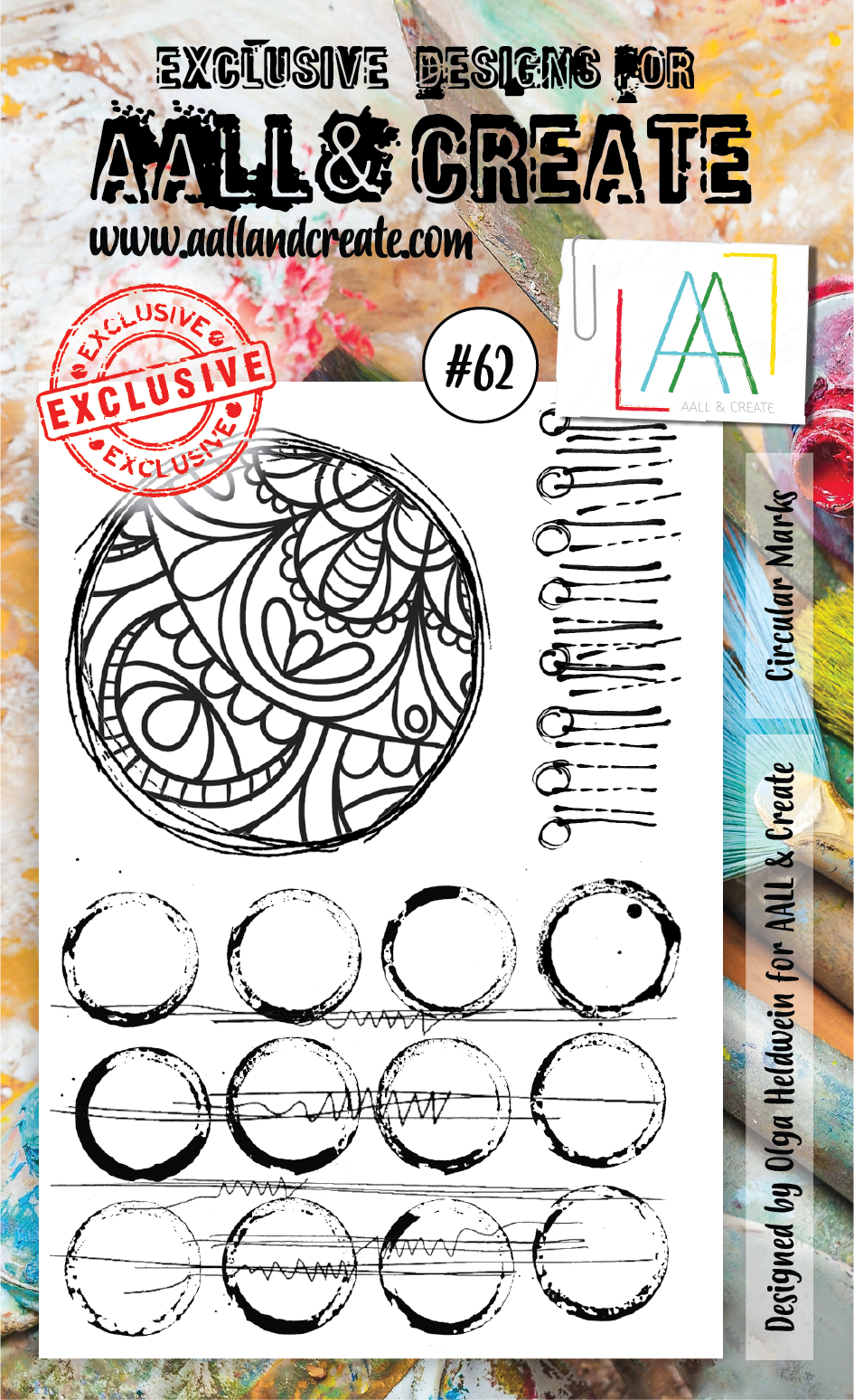 AALL & Create - Clear Stamp Set - #62 - Circular Marks