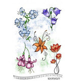 Katzelkraft - Hibiscus - Unmounted Red Rubber Stamp Set A5