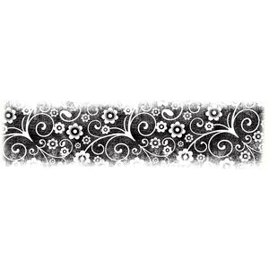Lavinia - Floral Border Stamp - Clear Polymer Stamp