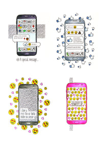 For the Love of Stamps - I Love My Phone - Cell Phone