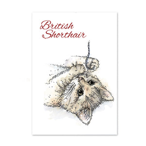 For the Love of Stamps - Cat - British Shorthair