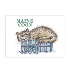 For the Love of Stamps - Cat - Maine Koon