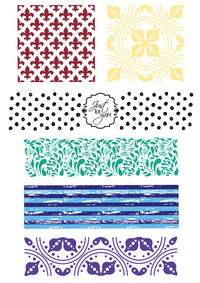 For the Love of Stamps - Patterned Panels - Just For You