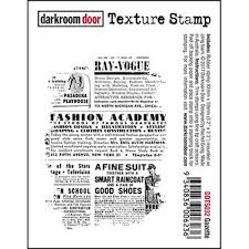 Darkroom Door - Gazette - Red Rubber Cling Stamp