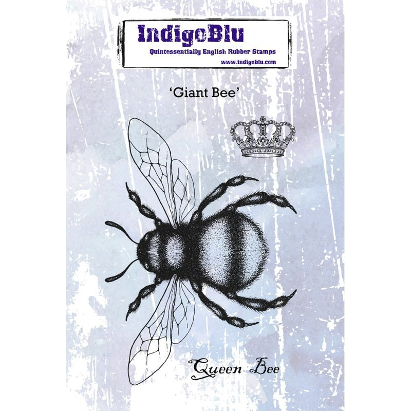 IndigoBlu - Cling Mounted Stamp - Giant Bee