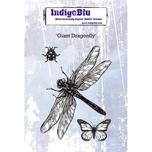 IndigoBlu - Cling Mounted Stamp - Giant Dragonfly